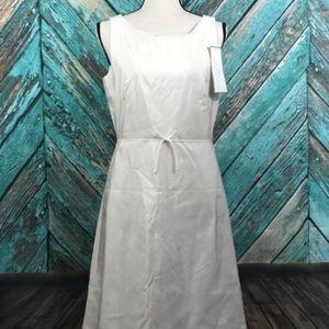 J Crew Grace Dress 8 100% Silk Formal Ivory Lined